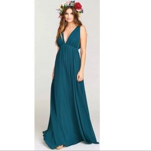 Ava Maxi Dress Deep Jade Chiffon Show Me Your Mumu
